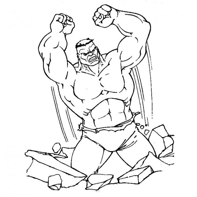 Coloriage hulk en ligne dessin gratuit imprimer - Coloriage hulk gratuit ...
