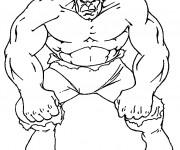 Coloriage et dessins gratuit Hulk en noir et blanc à imprimer