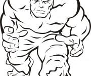 Coloriage et dessins gratuit Hulk en vecteur à imprimer