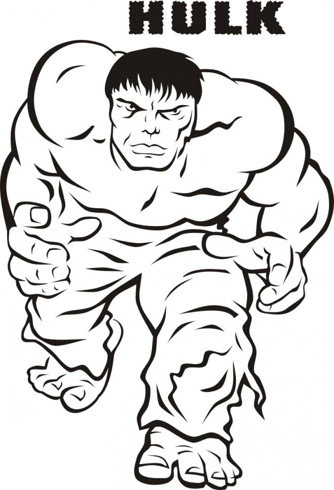Coloriage et dessins gratuits Hulk en vecteur à imprimer