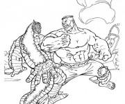 Coloriage et dessins gratuit Hulk et La Bataille à imprimer