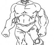 Coloriage et dessins gratuit Hulk facile à imprimer