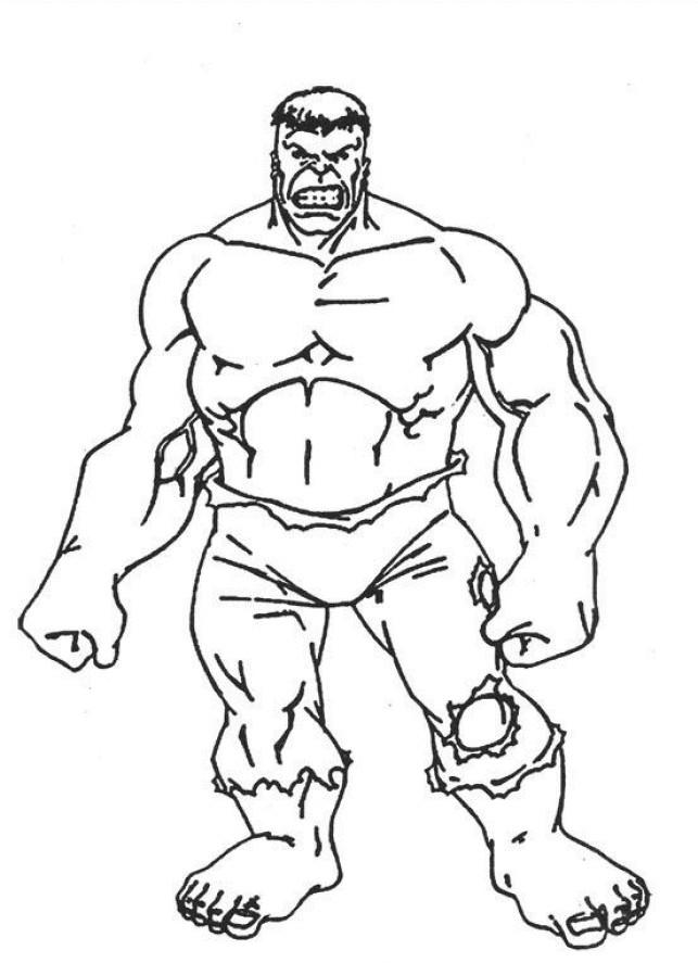 Coloriage et dessins gratuits Hulk facile à imprimer