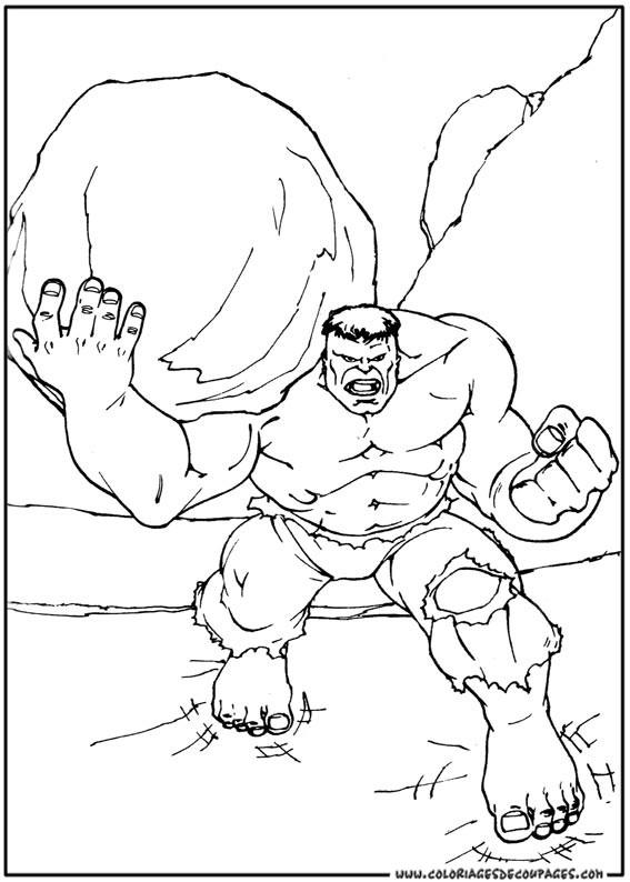 Coloriage et dessins gratuits Hulk Fort à imprimer
