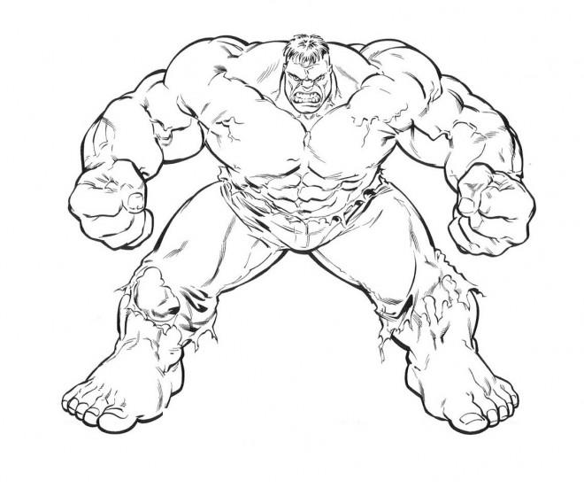Coloriage et dessins gratuits Hulk Géant à imprimer
