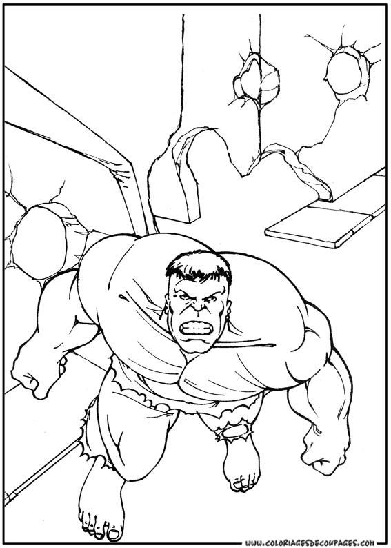 Coloriage et dessins gratuits Hulk Héro du Film à imprimer
