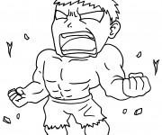 Coloriage et dessins gratuit Hulk humoristique à imprimer