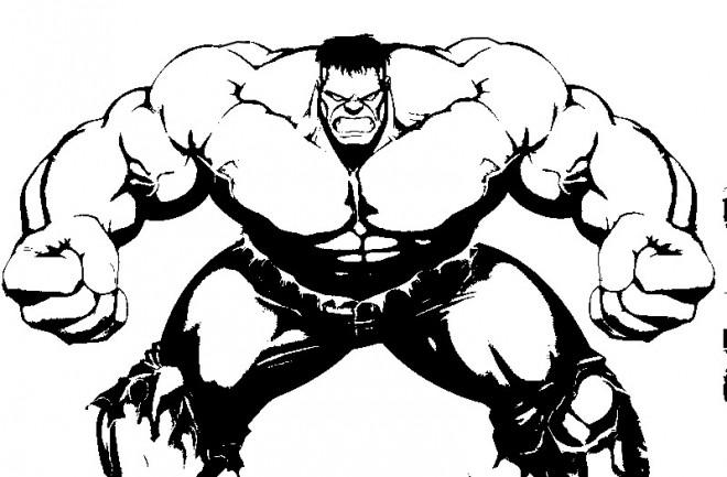 Coloriage et dessins gratuits Hulk Le Monstre à imprimer