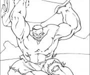 Coloriage et dessins gratuit Hulk le Tout puissant à imprimer