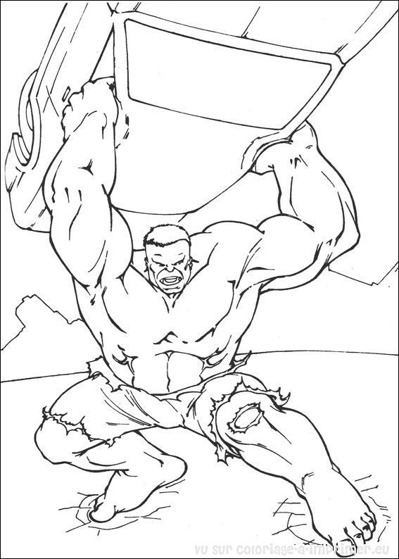 Coloriage et dessins gratuits Hulk le Tout puissant à imprimer