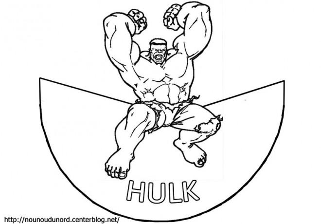 Coloriage et dessins gratuits Hulk Logo à imprimer