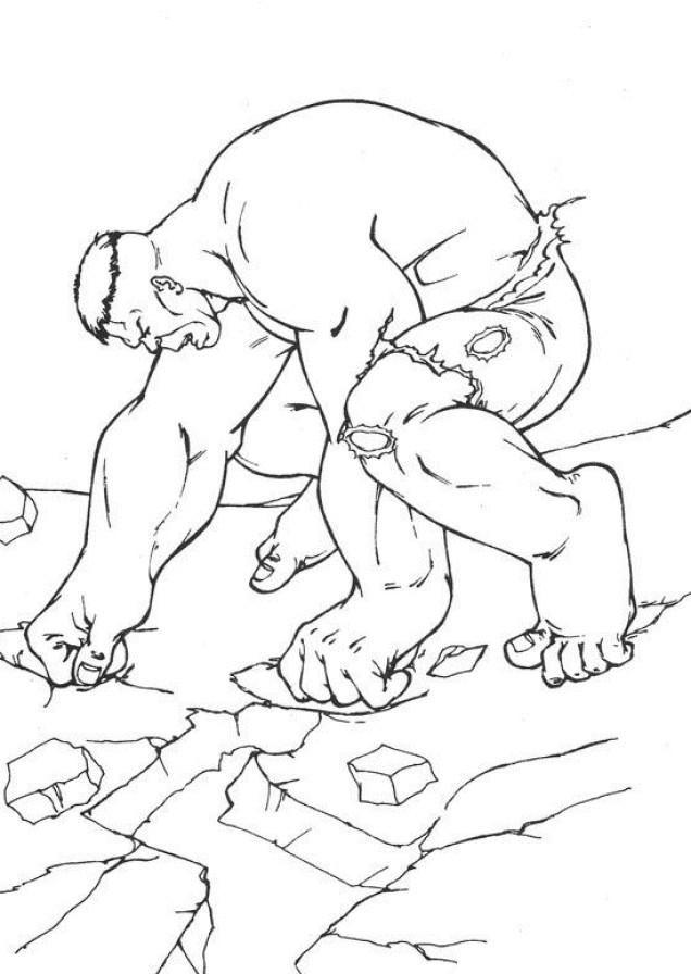 Coloriage et dessins gratuits Hulk Personnage à imprimer