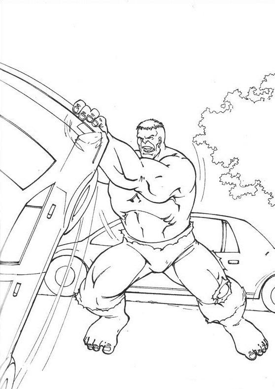 Coloriage et dessins gratuits Hulk pour enfant à imprimer