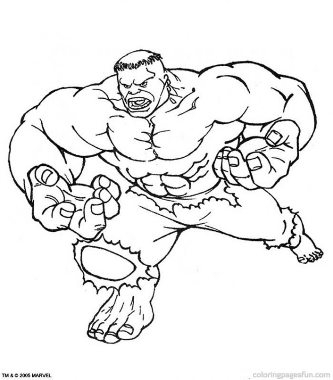 Coloriage et dessins gratuits Hulk rouge à imprimer