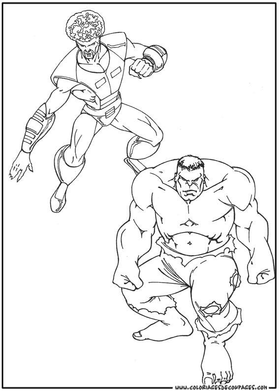 Coloriage et dessins gratuits Hulk rouge en Ligne à imprimer
