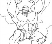 Coloriage Hulk simple