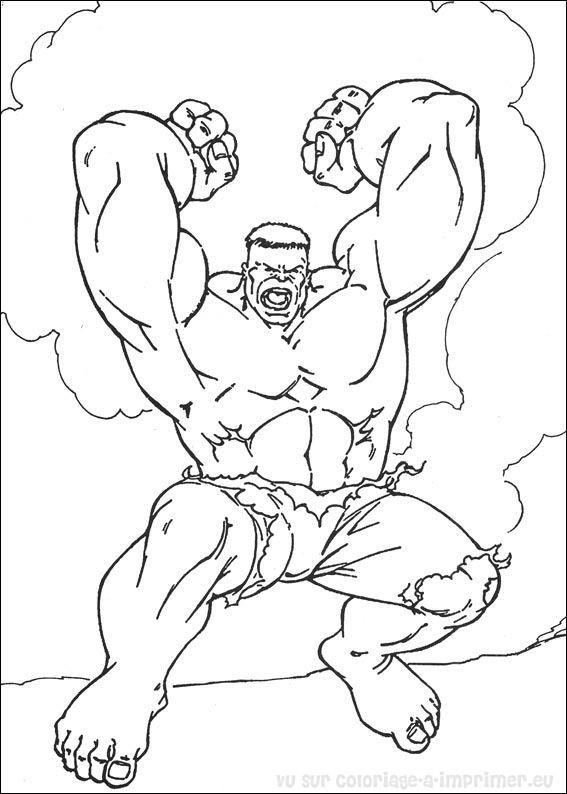 Coloriage et dessins gratuits Hulk simple à imprimer