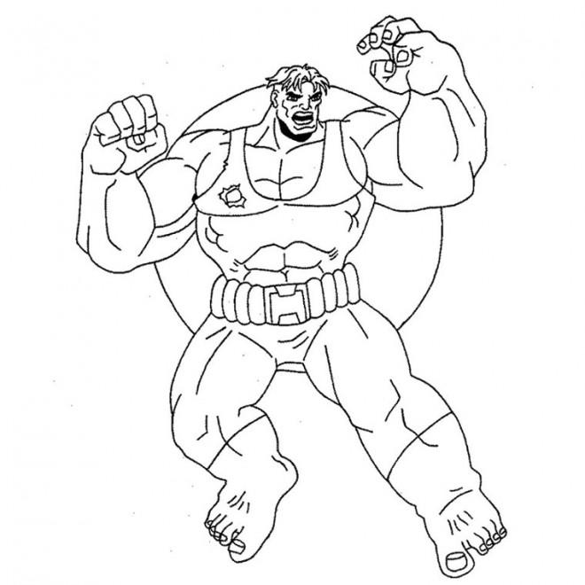 Coloriage et dessins gratuits Hulk simplifié à imprimer