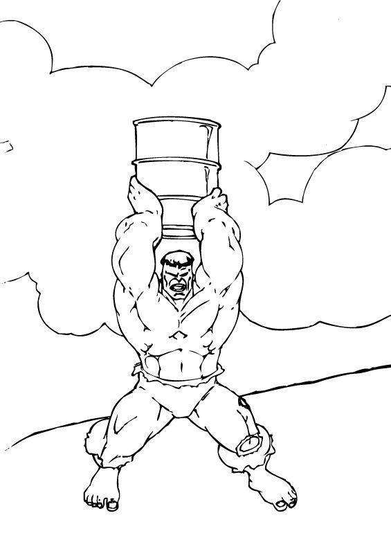 Coloriage et dessins gratuits Hulk sur ordinateur à imprimer