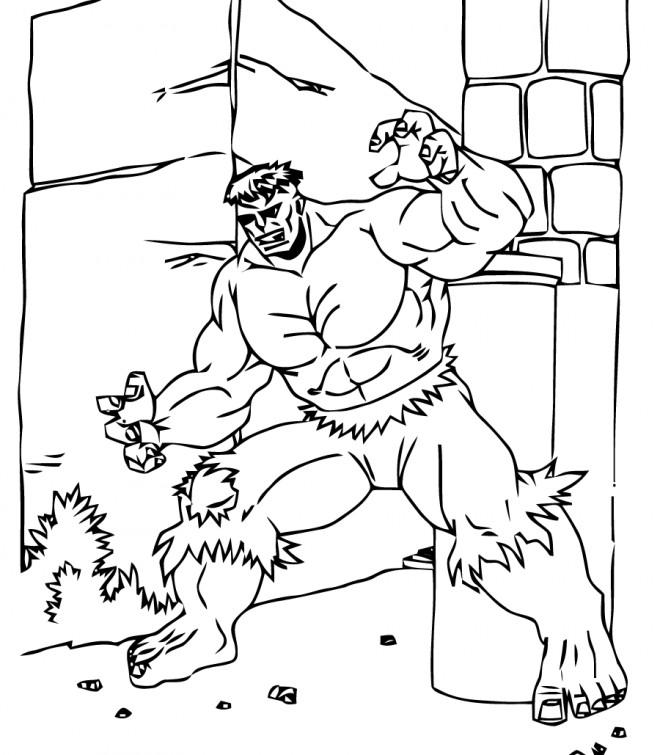 Coloriage et dessins gratuits Hulk vectoriel à imprimer