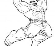 Coloriage et dessins gratuit Hulk vert à imprimer