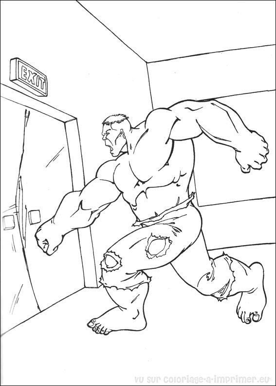 Coloriage et dessins gratuits Portrait de Hulk à imprimer