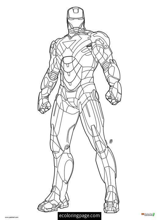 Coloriage Iron Man 1 dessin gratuit à imprimer