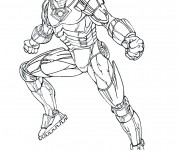 Coloriage Iron Man 8