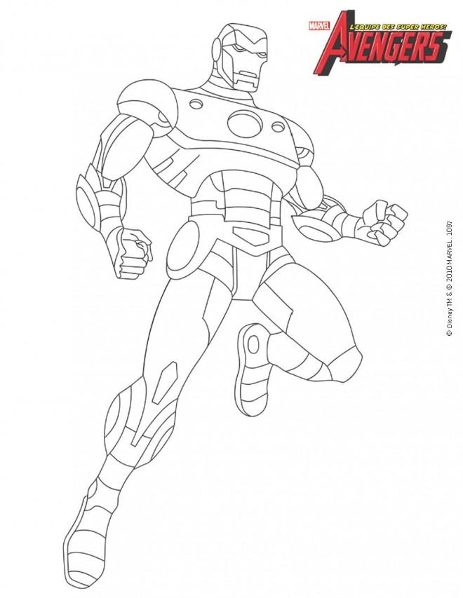 Coloriage iron man colorier dessin gratuit imprimer - Coloriage de iron man ...