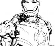 Coloriage et dessins gratuit Iron Man à découper à imprimer
