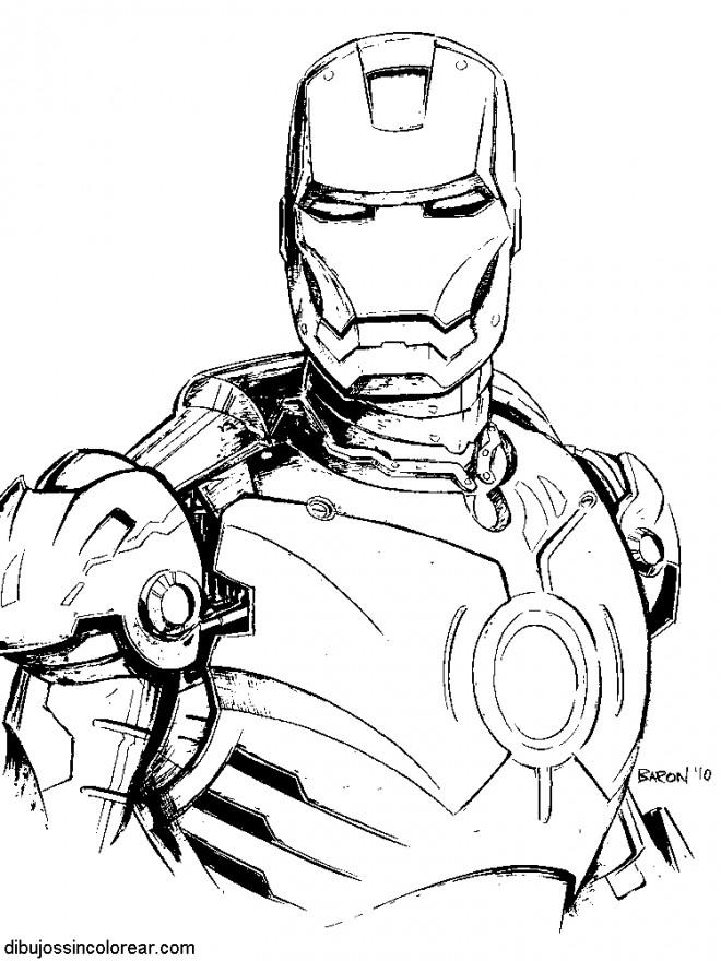 Coloriage et dessins gratuits Iron Man à découper à imprimer