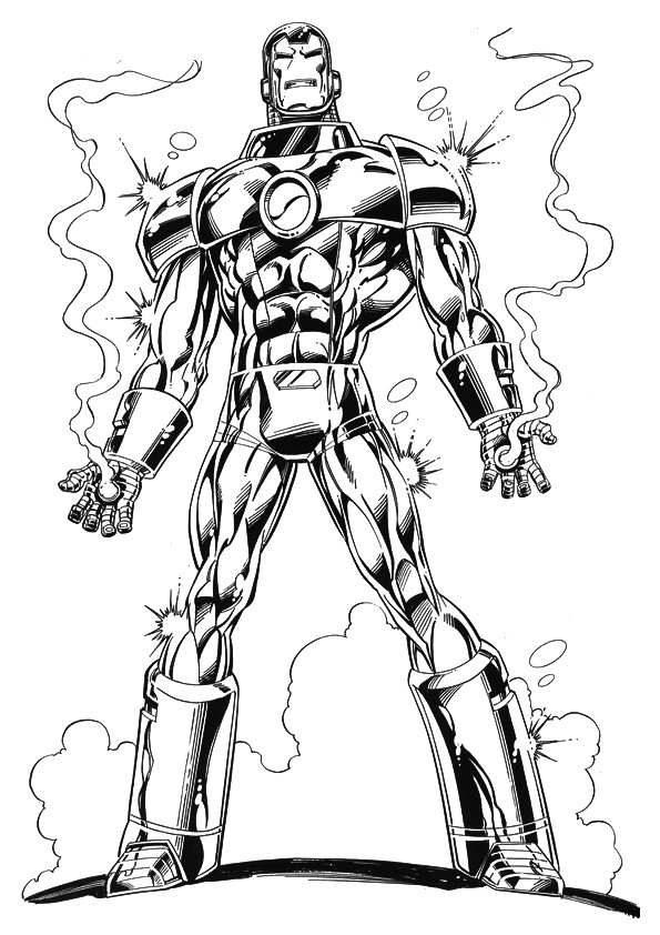 Coloriage iron man t l charger - Iron man telecharger ...
