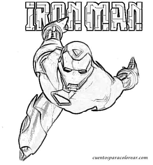 Coloriage et dessins gratuits Iron Man Affiche à imprimer
