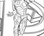 Coloriage et dessins gratuit Iron Man au cinéma à imprimer