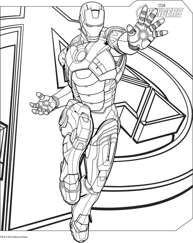 Coloriage Iron Man Au Cinema Dessin Gratuit A Imprimer
