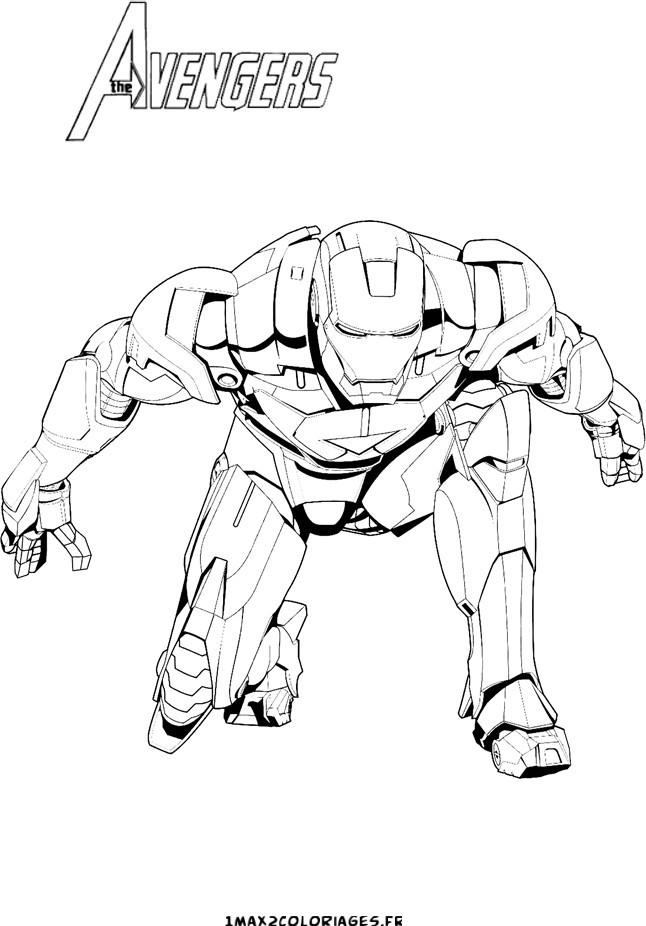 Coloriage iron man avengers dessin gratuit imprimer - Dessin de iron man ...