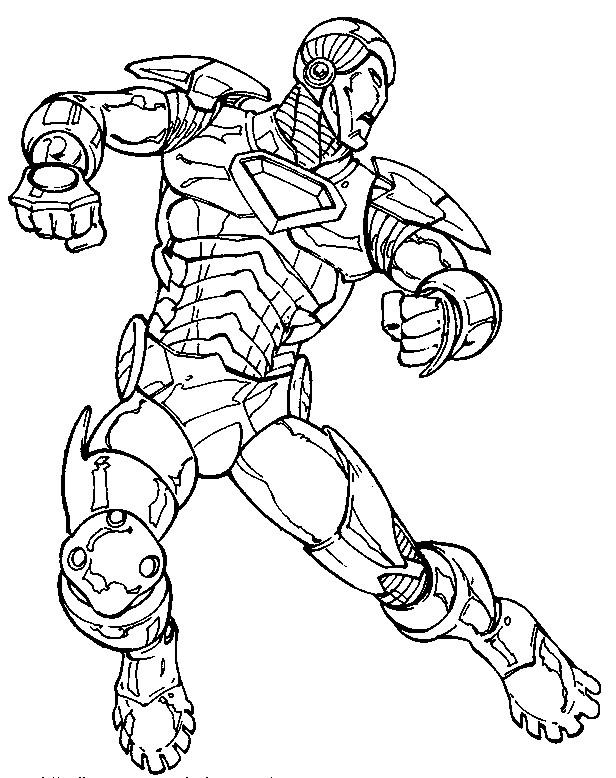 Coloriage et dessins gratuits Iron Man dessin animé à imprimer