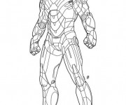 Coloriage Iron Man en couleur