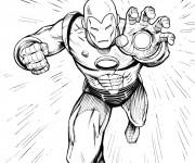 Coloriage et dessins gratuit Iron Man en ligne à imprimer