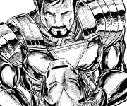 Coloriage Iron Man en vecteur