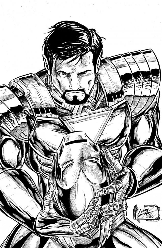 Coloriage et dessins gratuits Iron Man en vecteur à imprimer