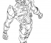 Coloriage Iron Man en volant