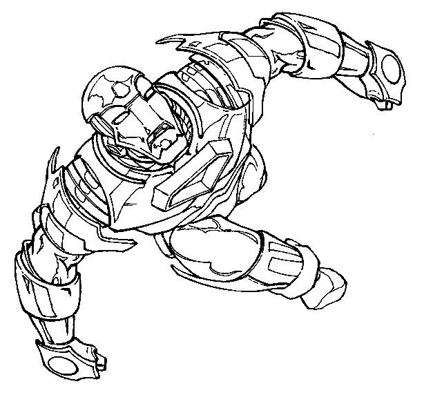 Coloriage et dessins gratuits Iron Man en volant dans Le Ciel à imprimer