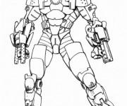 Coloriage et dessins gratuit Iron Man équipé à imprimer