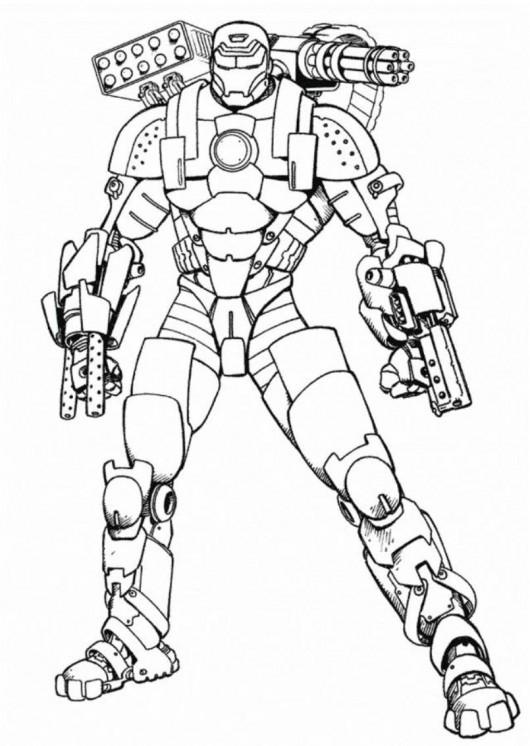 Coloriage et dessins gratuits Iron Man équipé à imprimer