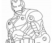 Coloriage Iron Man facile