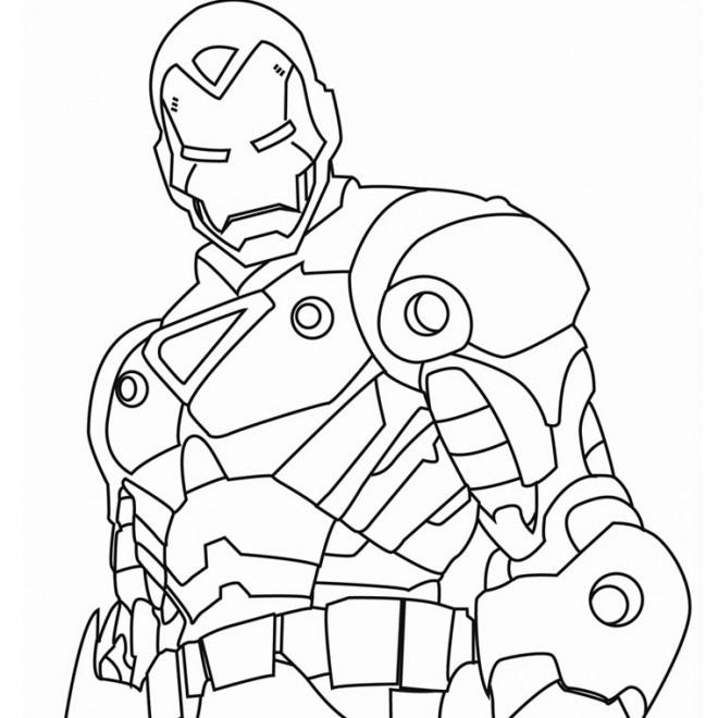 Coloriage iron man facile dessin gratuit imprimer - Coloriage spiderman portrait ...