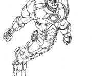 Coloriage Iron Man  le super héro