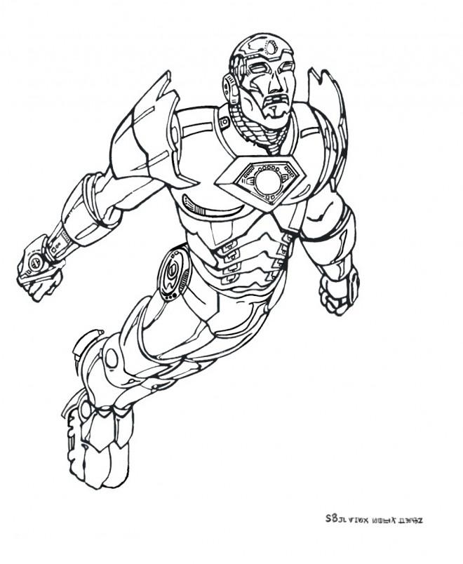 Coloriage Iron Man Le Super Hero Dessin Gratuit A Imprimer