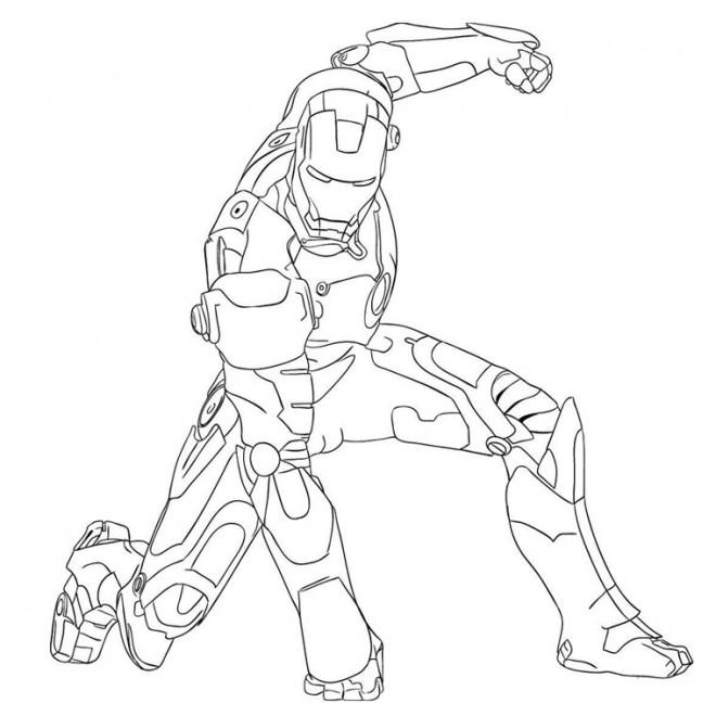 Coloriage et dessins gratuits Iron Man maternelle à imprimer